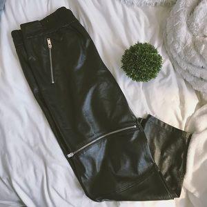 NWOT Leather Zara pants